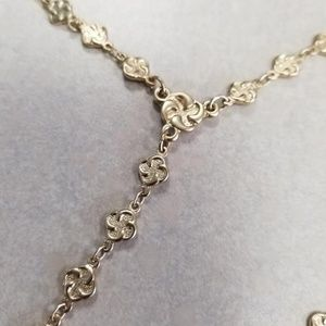 Chico's Kaylee Lariat Necklace Gold tone